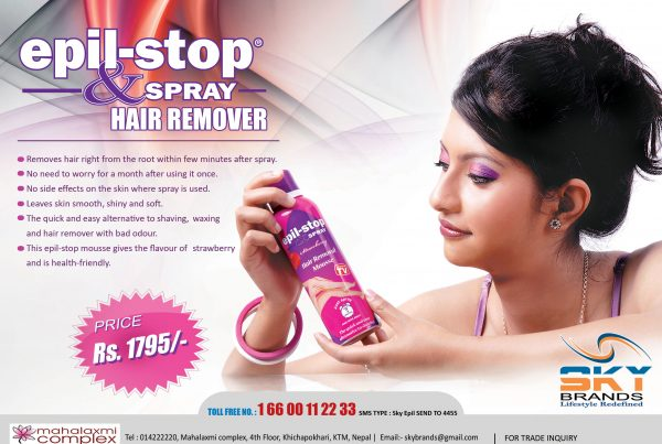 Epil Stop and Spray Paper Advertisement