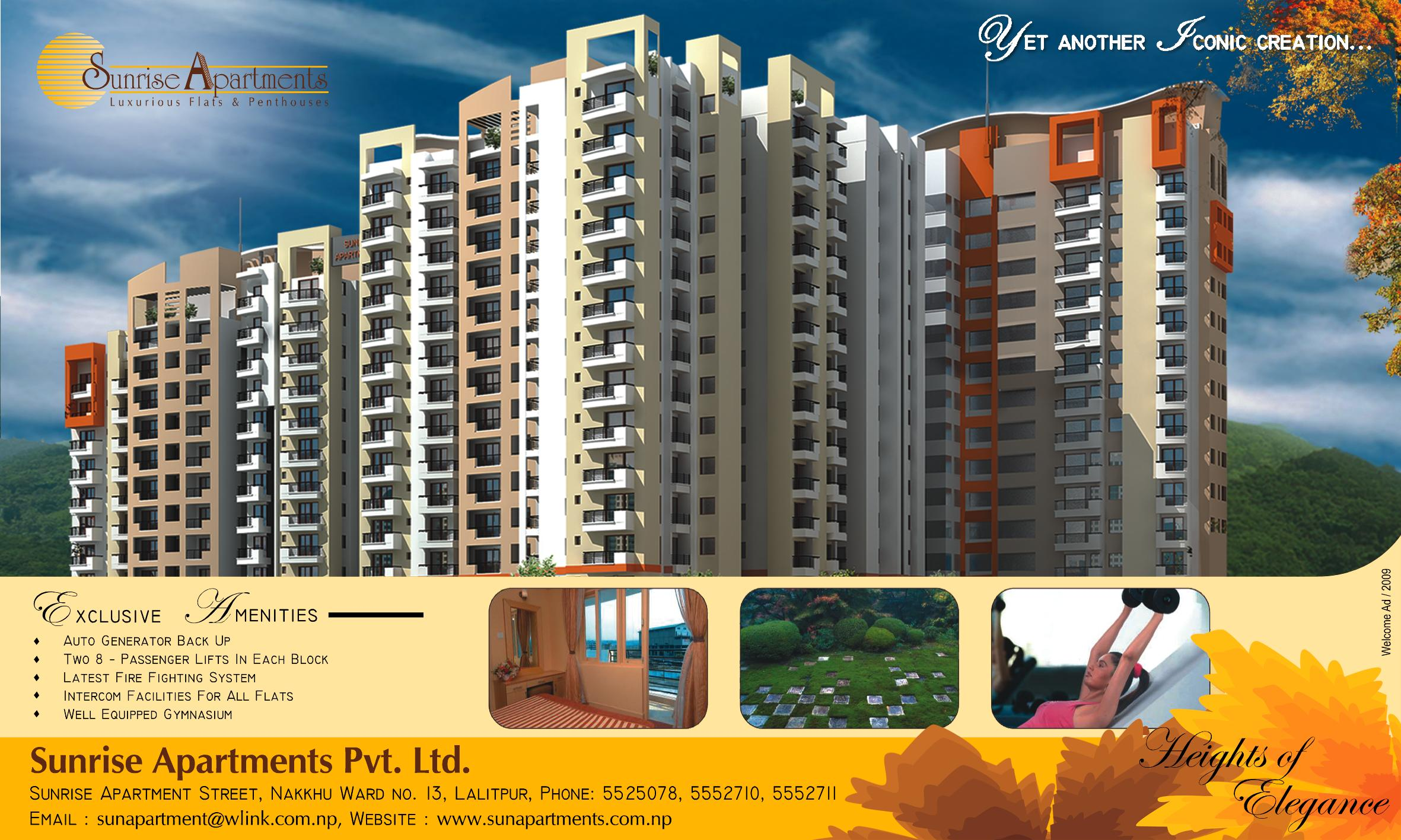 Sunrise Apartment Paper Advertisement